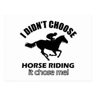 Cartão Postal design da equitação