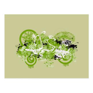 Cartão Postal Design da flor de Swirly