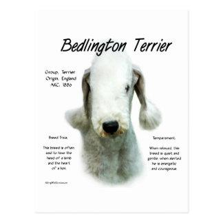 Cartão Postal Design da história de Bedlington Terrier