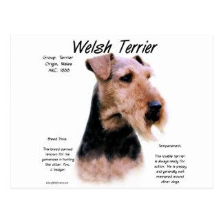 Cartão Postal Design da história de galês Terrier