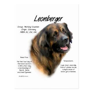 Cartão Postal Design da história de Leonberger