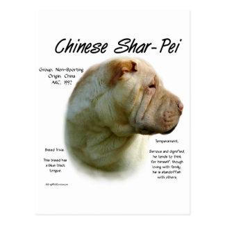 Cartão Postal Design da história de Shar Pei do chinês