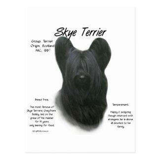 Cartão Postal Design da história de Skye Terrier