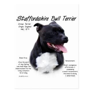 Cartão Postal Design da história de Staffordshire bull terrier