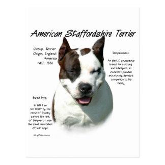Cartão Postal Design da história de Staffordshire Terrier