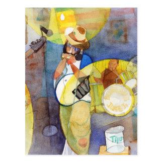Cartão Postal Design da música dos azuis do delta