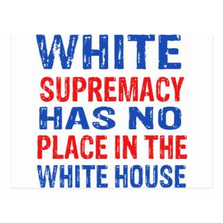 Cartão Postal design da supremacia branca