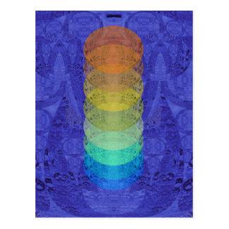 Cartão Postal Design da tapeçaria de Chakra da ioga