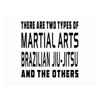 Cartão Postal Design das artes marciais de Jiu-Jitsu do