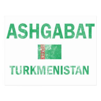 Cartão Postal Design de Ashgabat Turkmenistan