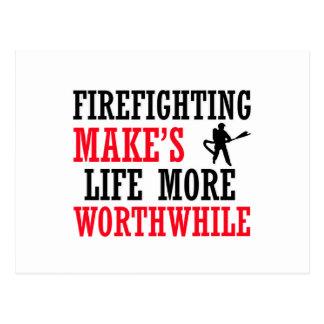Cartão Postal design de combate ao fogo