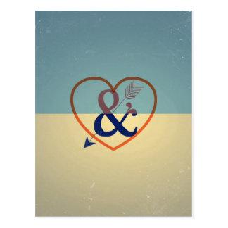 Cartão Postal Design de creme azul do vintage. Teste padrão do
