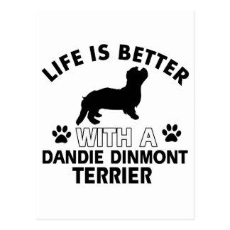 Cartão Postal Design de Dandie Dinmont Terrier
