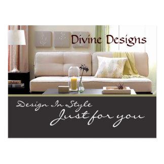 Cartão Postal Design de interiores - personalizado