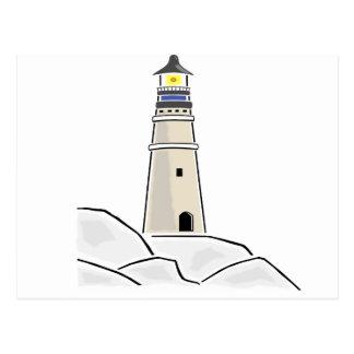 Cartão Postal design de torre do farol