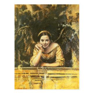 Cartão Postal Design do anjo do renascimento