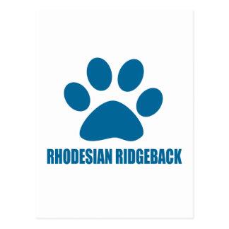 CARTÃO POSTAL DESIGN DO CÃO DE RHODESIAN RIDGEBACK