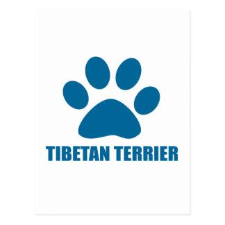 CARTÃO POSTAL DESIGN DO CÃO DE TERRIER TIBETANO