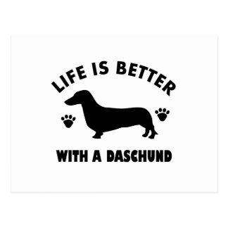 Cartão Postal design do cão do daschund