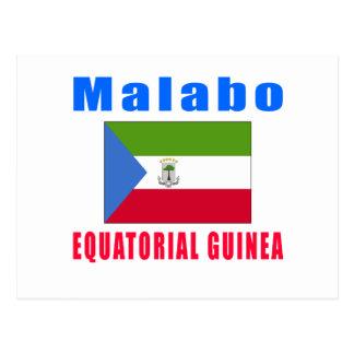 Cartão Postal Design do capital da Guiné Equatorial de Malabo