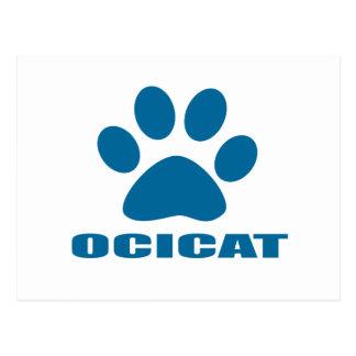 CARTÃO POSTAL DESIGN DO CAT DE OCICAT