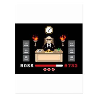 """Cartão Postal Design do """"chefe"""" do pixel - GeekShirts"""