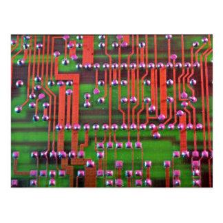 Cartão Postal Design do conselho de circuito