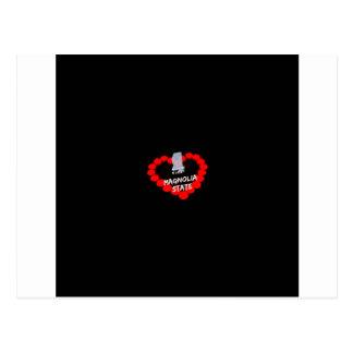 Cartão Postal Design do coração da vela para o estado de