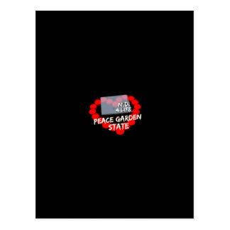 Cartão Postal Design do coração da vela para o estado de North