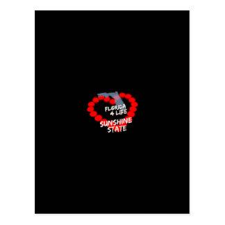 Cartão Postal Design do coração da vela para o estado do Flórida