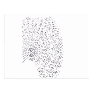 Cartão Postal Design do Crochet