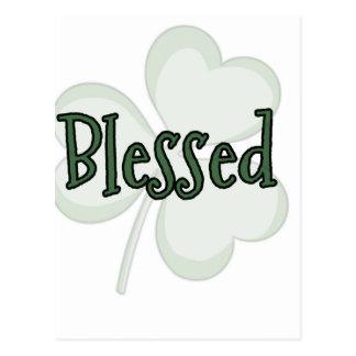 Cartão Postal Design do dia de St Patrick abençoado