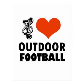 Cartão Postal design do futebol