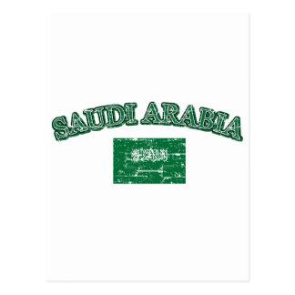 Cartão Postal Design do futebol de Arábia Saudita
