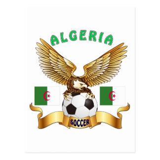 Cartão Postal Design do futebol de Argélia