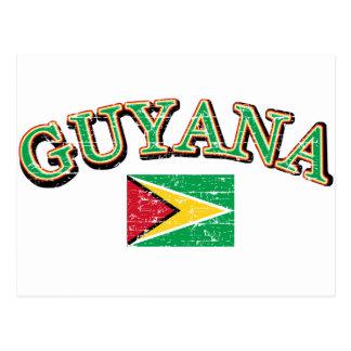 Cartão Postal Design do futebol de Guyana