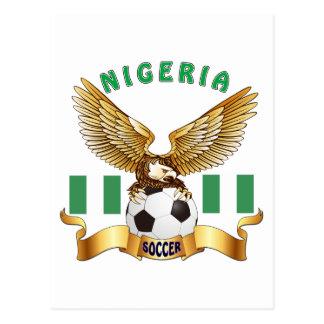 Cartão Postal Design do futebol de Nigéria
