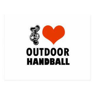 Cartão Postal Design do handball