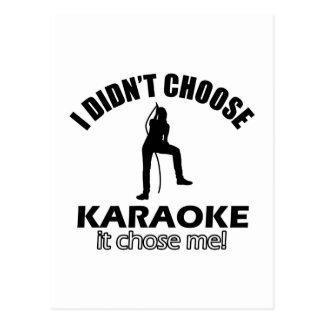 Cartão Postal design do karaoke