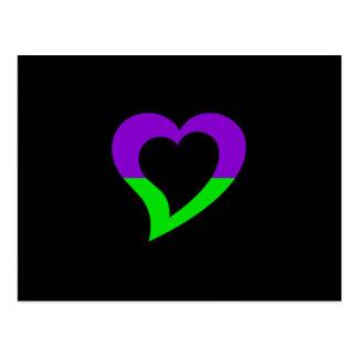 Cartão Postal design do logotipo do milivolt - amor e