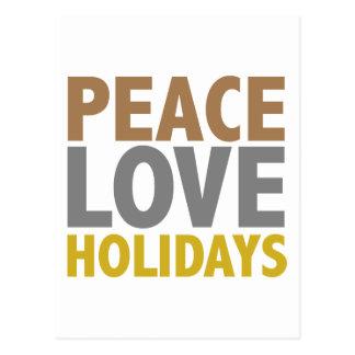 Cartão Postal Design do Natal dos feriados do amor da paz