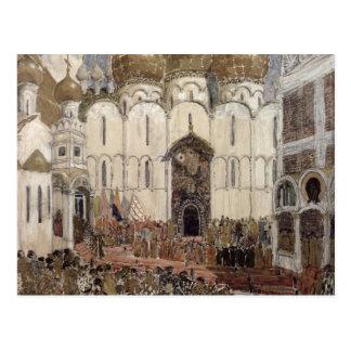 Cartão Postal Design do palco para Boris Godunov