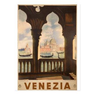 Cartão Postal Design do poster de Venezia