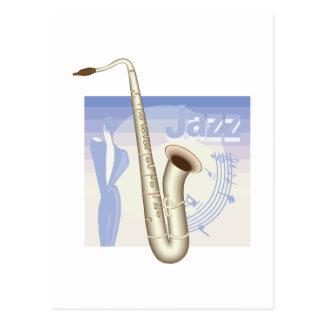 Cartão Postal design do saxaphone do jazz