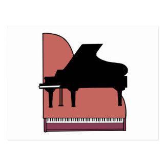 Cartão Postal design do silouhette do piano