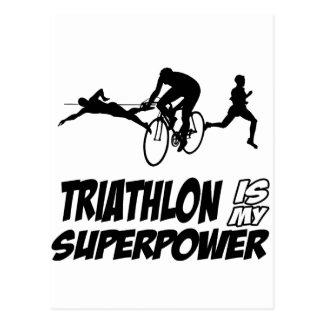 Cartão Postal Design do Triathlon
