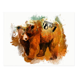 Cartão Postal Design do urso do PA de Milford