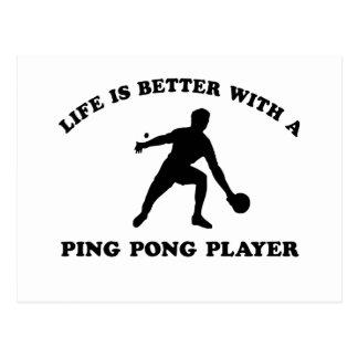 Cartão Postal Design do vetor de Pong do sibilo