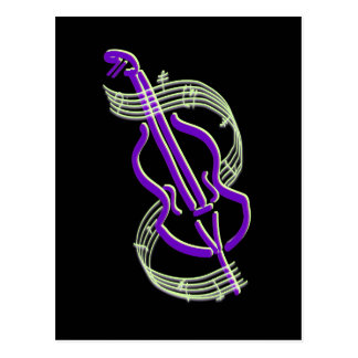 Cartão Postal Design do violoncelo