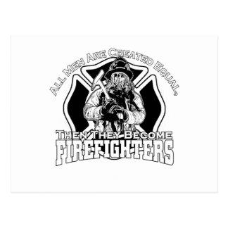 Cartão Postal Design dos sapadores-bombeiros